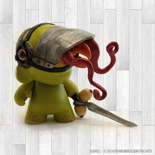 Seahell Custom Munny Sculpture by Payam Montazami Fine Arts